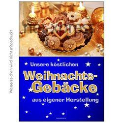 Plakat Weihnachtsgebäcke