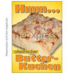Plakat Butterkuchen