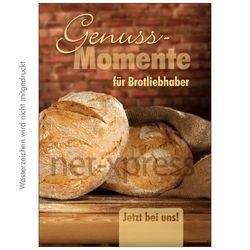 Poster für Bäckerei-Reklame