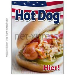 Hot Dog Plakat