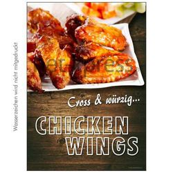 Plakat Chicken Wings