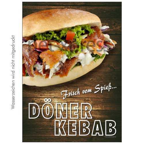 Döner-Poster für Döner-Imbiss DIN A0 A1 A2 A3