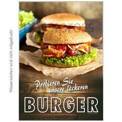 Gastro-Poster mit Burgerwerbung – Bild 1