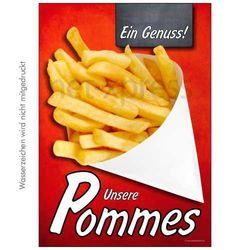 Plakat frische Pommes frites