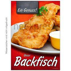 Poster frischer Backfisch