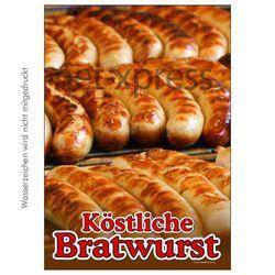 Poster für köstliche Bratwwurst