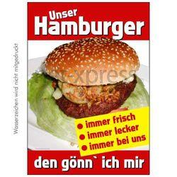 Hamburger-Poster für Imbiss