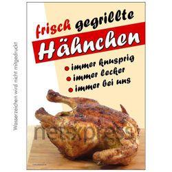 Plakat frische Grillhähnchen