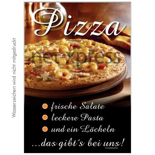 Pizza-Plakat für Kundenstopper DIN A0 A1 A2 A3