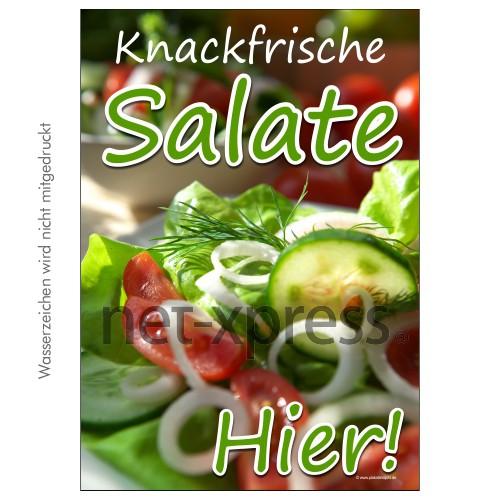 Plakat knackfrische Salate DIN A0 A1 A2 A3
