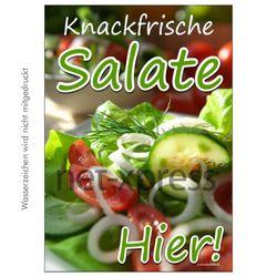 Plakat knackfrische Salate