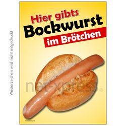 Poster Bockwurst im Brötchen