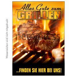 Werbeplakat zum Thema Grillen