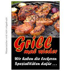 Plakat Grill mal wieder