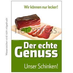 Plakat für Schinken-Werbung