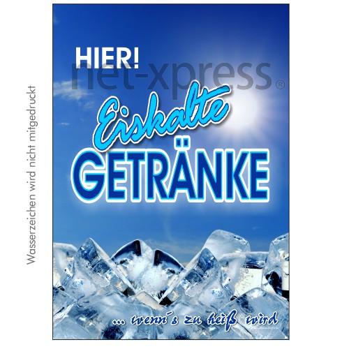 Werbeplakat für kalte Getränke | net-xpress.de