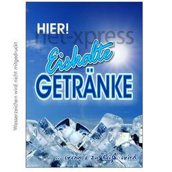Werbeplakat für kalte Getränke