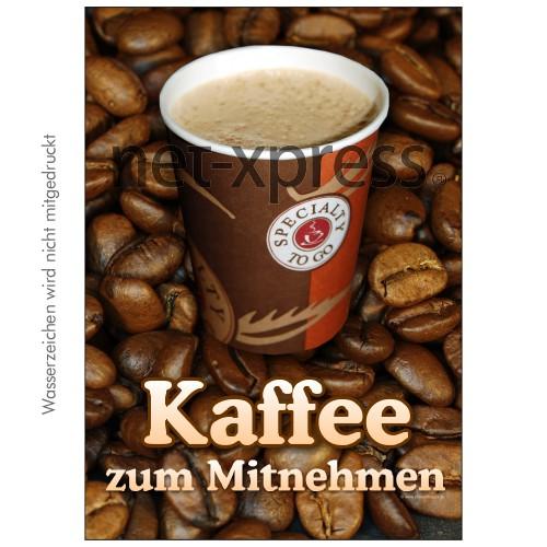 Plakat Kaffee zum Mitnehmen DIN A0 A1 A2 A3