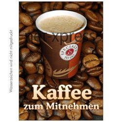 Plakat Kaffee zum Mitnehmen