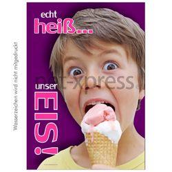 Werbeplakat für Eiscafe