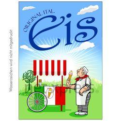 Plakat für italienische Eisdiele