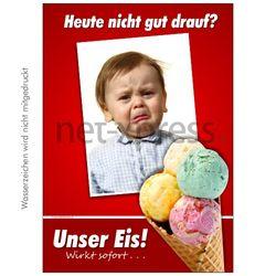 Lustiges Eis-Werbeplakat