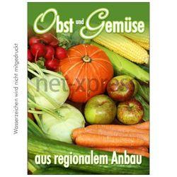 Plakat Obst und Gemüse aus regionalem Anbau