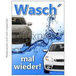 Plakat für Autowaschanlage