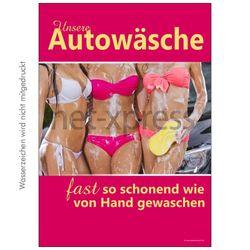 Poster für Werbung Autowäsche