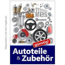 Plakat für Autozubehör