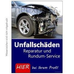 Werbeplakat für Kfz-Reparatur