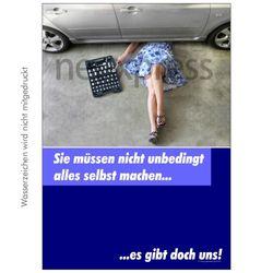 Poster für Werbung für Autowerkstatt