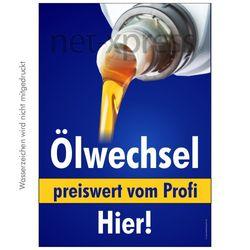 Ölwechsel-Plakat für Autohaus