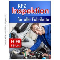 Plakat Kfz-Inspektion