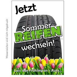 Werbeplakat für Sommerreifen