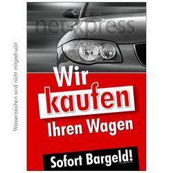 Werbeposter zum Ankauf von Autos