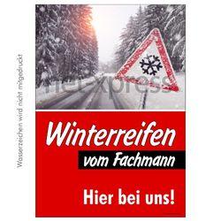 Poster für Winterreifen-Reklame