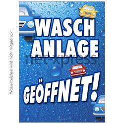Plakat Autowaschanlage geöffnet