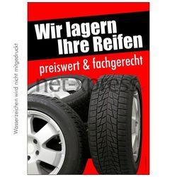 Poster Wir lagern Ihre Reifen