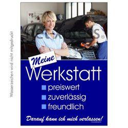 Werbeplakat für Autowerkstatt