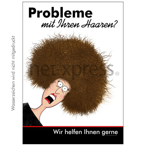 Lustiges Friseurposter