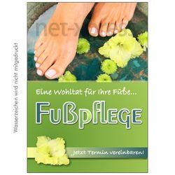 Plakat Fußpflege eine Wohltat
