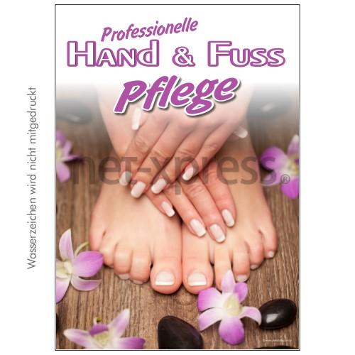 Plakat Hand- und Fußpflege DIN A0 A1 A2 A3