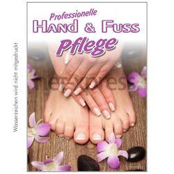 Plakat Hand- und Fußpflege