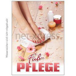 Poster für Fußpflege-Werbung
