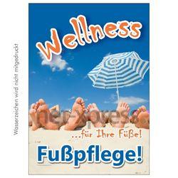 Plakat Wellness für Ihre Füsse