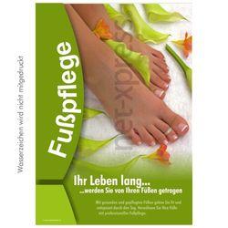 Werbeplakat für professionelle Fußpflege
