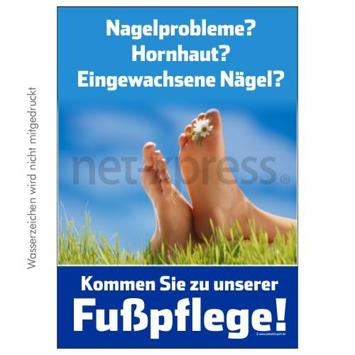 Werbeposter Fußpflege DIN A0 A1 A2 A3