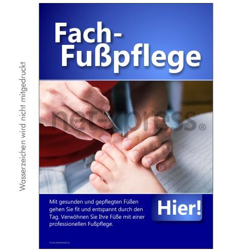 Plakat für Fach-Fußpflege DIN A0 A1 A2 A3