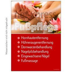 Fußpflege-Werbeplakat